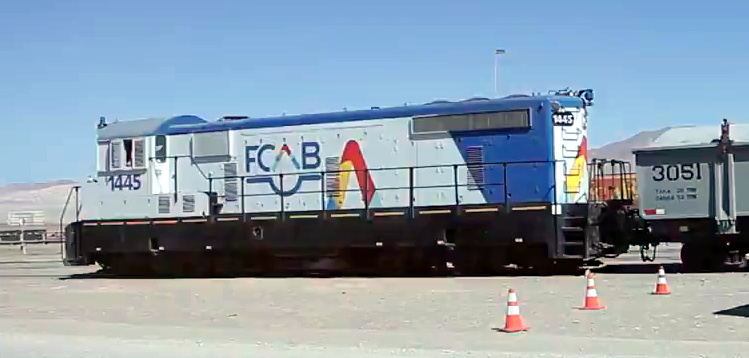 loco 1445 new FCAB hood end paint