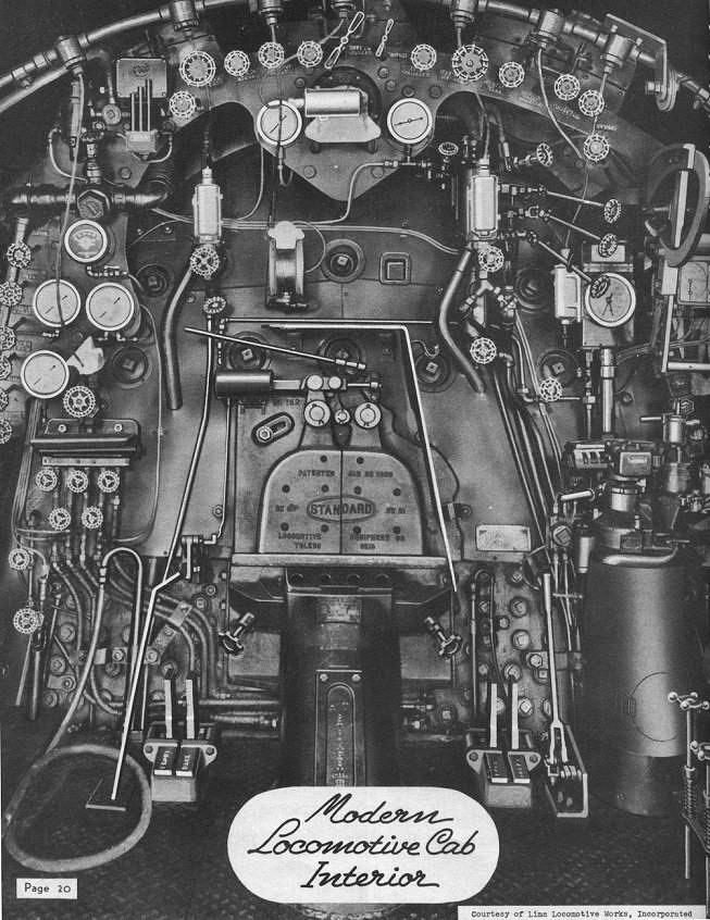 backhead steam engine controls for 1945