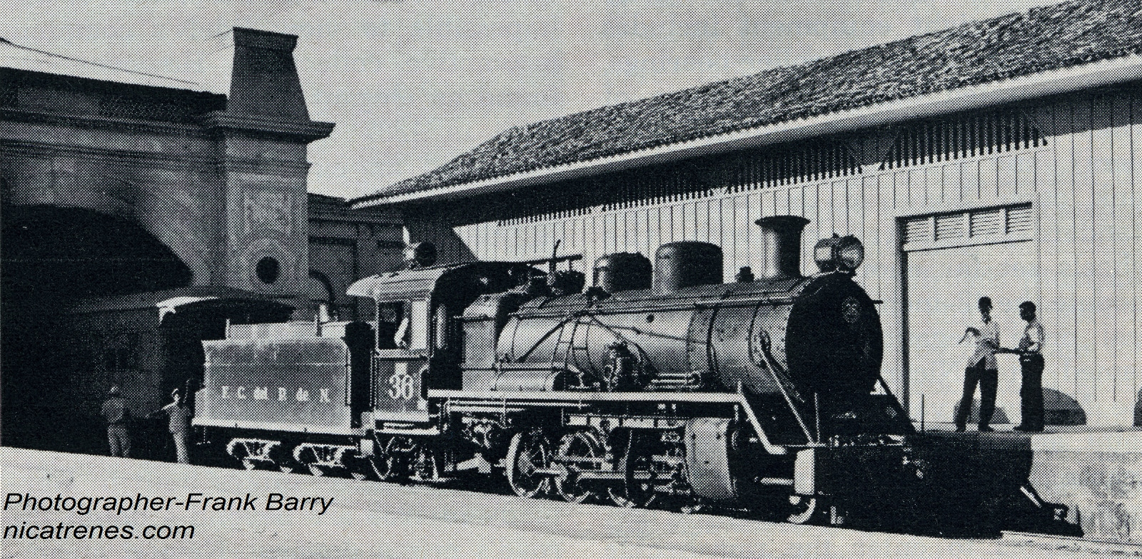 Locomotive Num. 36 at Granada Station 1962