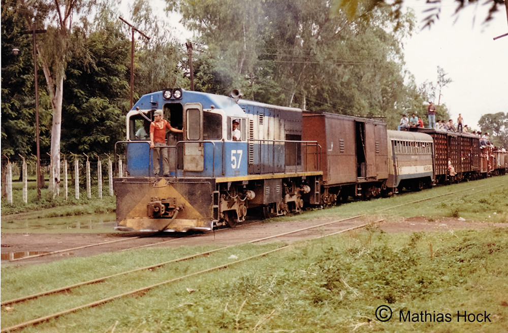 Locomotive No.57 in Leon, Nicaragua - Pulling a mixed