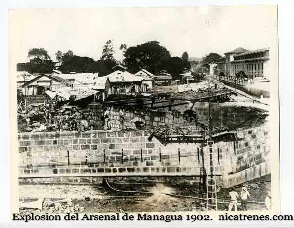 1902 explosion of the arsinal of Managua, Nicaragua