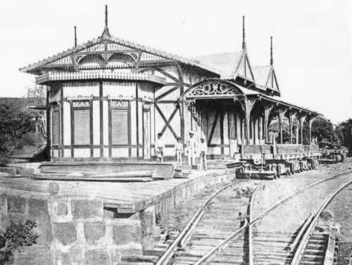 First Managua central railroad station of Nicaragua